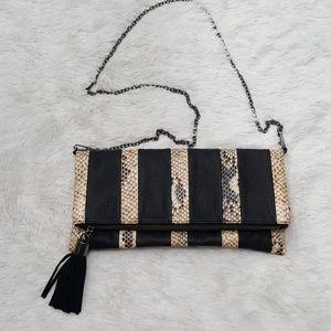 Handbags - *(🌟J) Black/Snakeskin Bag